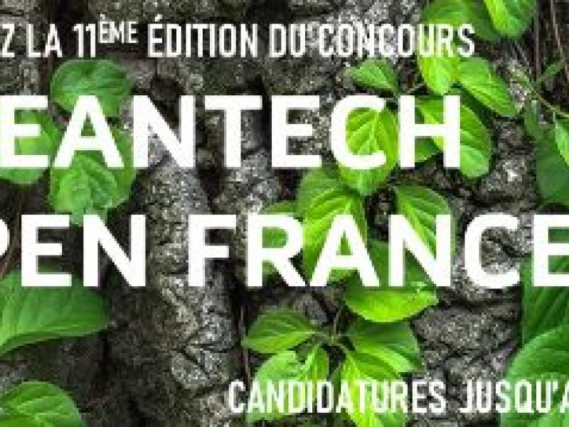 Appel à cadidature cleantech open France 2020